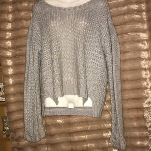 Knit silver sweater with sparkle 🌟